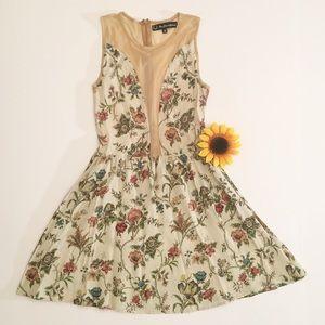 NWOT For Love & Lemons cream floral midi dress, S